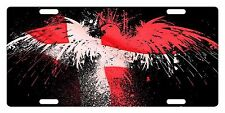 DENMARK Flag Custom License Plate  Emblem EAGLE Version