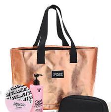 Victoria's Secret PINK Travel Tote Bag Shopper Rose Gold Weekender - TOTE ONLY