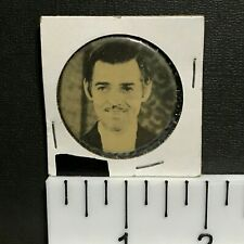 """Clark Gable, Close Up Pic, 1.5"""" Vintage Hollywood Movie Star Pin-Back Button"""