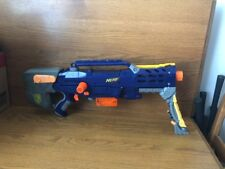 2006 NERF N-Strike Long Shot CS-6 Gun toy blue orange gray Hasbro