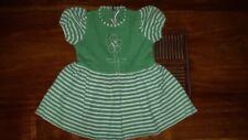 Robe fille vintage années 70 taille 2 ans vert pomme