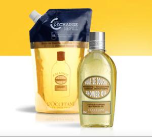 25%OFF L'Occitane Almond Shower Oil 250ml+500ml Eco-Refill Set Hydrate Nourish