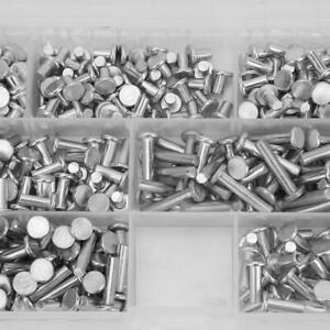 350er M4 Flachkopf Vollnieten Senkkopf Nieten Sortiment Kit 4/6/8/10/12/16/20mm❤