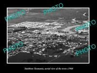 OLD POSTCARD SIZE PHOTO OF SMITHTON TASMANIA AERIAL VIEW OF THE TOWN c1960 1