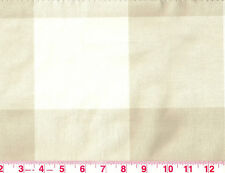 2.75 y Check by P Kaufmann Drapery Upholstery Fabric Buffalo Check Linen Beige