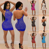 Sexy Women Lady Bandage Bodycon Evening Party Cocktail Club Short Mini Dress