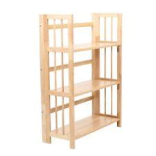 Shelf Unit, 3 Tier Tropical Hevea Wood, Folding