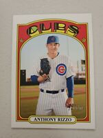 Anthony Rizzo 2021 Topps Heritage Jumbo Box Topper Chicago Cubs