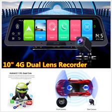 """10"""" pulgadas Android 8.1 coche Dash Cam 4G Wifi Adas Doble Lente de Cámara DVR GPS Navegación"""