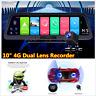 """10"""" Android 8.1 Car Dash Cam 4G WiFi ADAS Dual Lens DVR Camera GPS Navigation"""