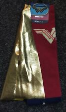 Bioworld Wonder Woman Knee High Socks Stars Gold Cape  Size 9-11 NWT