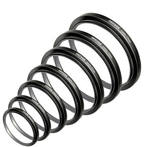 Neewer Filter Adapter Step Up Rings 49-52-55-58-62-67-72-77mm