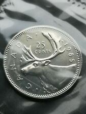 *** CANADA  25  CENTS  1985 ***  SEALED  PROOF  LIKE  ***