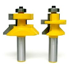 """2 pc 1/2"""" Shank V-Joint V-notch Tongue and Groove Router Bit Set sct-888"""