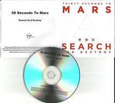 THIRTY SECONDS TO MARS Search and Destroy UK PROMO DJ CD single USA Seller 30