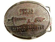 1973 Texas Cattle Country Nutrena Feedsl Belt Buckle By Wyoming Studio Arts