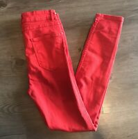 Zara Woman Premium Denim Collection Red Jeans Size 4  High Rise