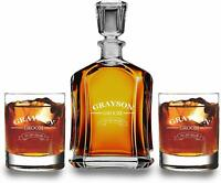 Customized Decanter with 2 scotch glass set,Christmas Gift, Best and classy gift