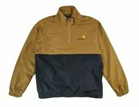 Carhartt WIP Squad Half Zip Jacket Windbreaker Hamilton Brown Black BNWT