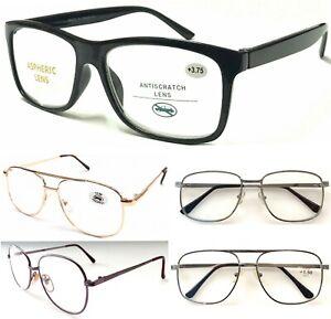 Unisex Popular Large Lens Reading Glasses/Metal Or Plastic Frame/Easy To Read ^^