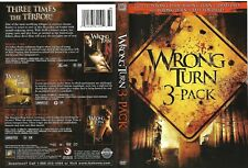 Wrong Turn 3 Pack (OOP RARE Authentic 3-Disc 2009 DVD Set) Eliza Dushku