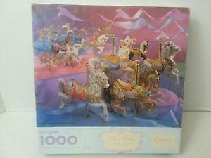 Springbok Tobin Fraley Carousel Animals Collector's Series 1000 Piece Puzzle VTG