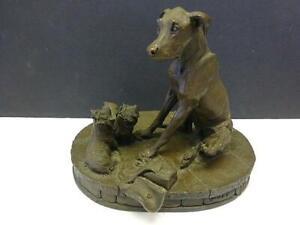 Hunting Dog & Puppy Heredities Ltd Kirkby Stephen England 974 Bronzed Sculpture