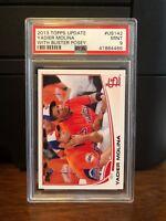 2013 Topps Update Yadier Molina SP Variation Baseball Card #US142 PSA 9 Mint