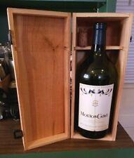 Mouton Cadet Wooden Wine Box - Baron Philippe de Rothschild EMPTY & Bottle