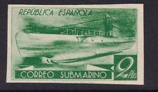 1938 España - Edifil 776s - Correo Submarino - 2 pts - VARIEDAD COLOR VERDE