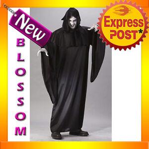 J98 Mens Ghost Death Eater Sream Scary Zombie Halloween Fancy Dress Costume