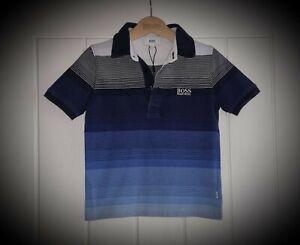 #27 Boys Hugo Boss Stripe Polo Top / Polo Shirt Age 4 Years