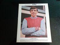 "WEST HAM UNITED Player MARTIN PETERS  TYPHOO TEA CARD  1960s  10"" x 8"""