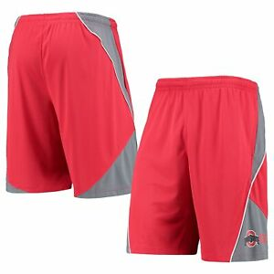 Men's Russell Scarlet Ohio State Buckeyes Colorblock Shorts