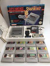 Super Nintendo STARWING Console Bundle-Bon état-SNES PAL + jeux
