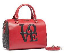 Moschino JC4055 150A Red/Black Speedy Satchel
