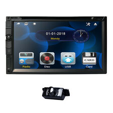 "2 Din 7"" Car Auto Radio Bluetooth CD DVD Player USB SWC DAB+ Mirror Link +Camera"