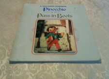 "A Twin Puppet Storybook ""Pinocchio"" and ""Puss in Boots"" 1971 Japan"