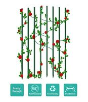 """EcoStake Plant Stakes for GardenTomato Support 6ft 0.27"""" Never Rust 50PACK Stake"""