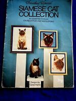 VINTAGE1981 SIAMESE CAT COLLECTION  COUNTED CROSS STITCH PATTERNS 17 PAGES