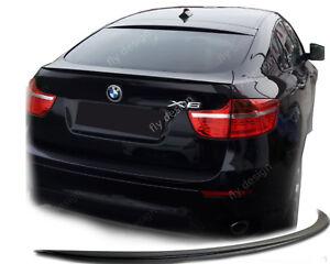 für BMW X6 M tuning E71 E72 Spoiler SLIM Stromlinie Hecklippe Kofferraum lip Apr
