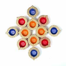Handmade Decorative diyas/Candles for Diwali puja & Festival Home Decor Pack 12