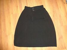 SARAH PACINI CREPE POLYESTER LONGLINE A-LINE TULIP BELTED LAGENLOOK SKIRT-SIZE 4