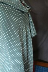 Remnant Polyester Fabric 1.50mtr x 114cm  - Sage Green with White Spot R453