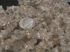 """Golden Rutilated Quartz Chip Beads  34"""" - 36"""" Endless Strand (1)"""