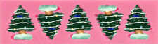 Christmas Trees in Snow Silicone Mold for Fondant, Chocolate, Crafts