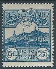 1903 SAN MARINO VEDUTA 25 CENT MH * - RR13942