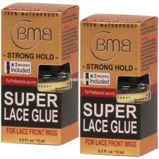 (2X) BMB Super Lace Glue Adhesive 0.5oz Strong Hold Lace Front Wigs Toupes Hair