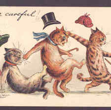 """WAIN CAT ACCIDENT """"BE CAREFUL!"""",HATS,TUCK POSTCARD"""
