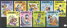 Anguilla 1981 DISNEY/Pâques/MICKEY/Lapin/ABEILLES/CARICATURES/animation 9 V set (s570)